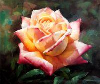 Чайная роза.худ.С.Минаев