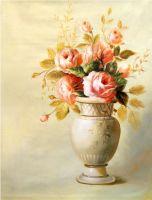 Нежный букет роз.худ.С.Минаев