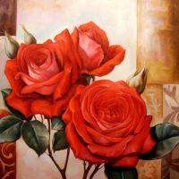 Алые розы.худ.Р.Смородинов