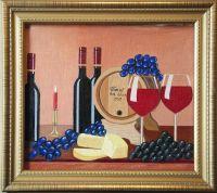 Натюрморт с виноградом и сыром # 1