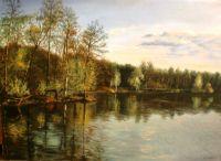 Закат на реке