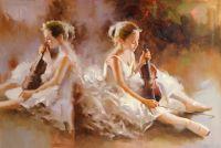 Балерины и скрипки (продана, возможна авторская копия)