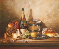 Натюрморт с хлебом и сыром