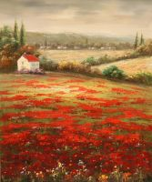 Маковое поле (картина Кристины Виверс)
