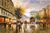 Boulevard de La Madeleine (копия Кристины Виверс картины Антуана Бланшара)
