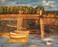 Мост в Аржантее (копия картины Клода Моне)