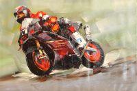 Красный мотоцикл (картина Х.Родригеса)