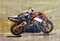 Синий мотоцикл (картина Х.Родригеса)