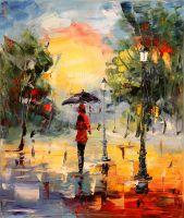 Под дождем в парке (картина Х.Родригеса)