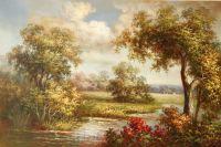 Летний пейзаж (картина К.Виверс)