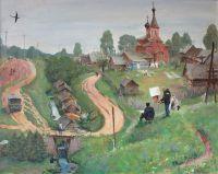 Деревня Передки. На практике