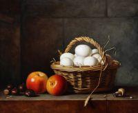 Корзина с яйцами. Анри-Орас-Ролан Делапорт. Копия