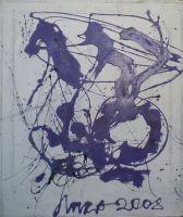 Вздыбленный фиолетовый дракон