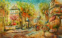 """Весна на парижских улицах...Из серии """"Кофе в Париже"""""""