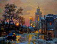 Москва. Зимние сумерки на Гончарной