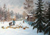 Деревня Равдино. Зима