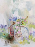 Flower wind. Bicycles -2