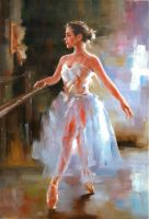 Балерина. У станка