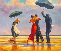 Поющий дворецкий (The Singing Butler, копия картины Джека Веттриано)