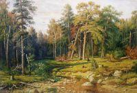 Копия картины Ивана Шишкина «Сосновый бор. Мачтовый лес в Вятской губернии»