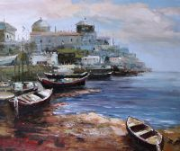 Рыбацкий порт. Картина Кристины Виверс