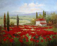 Маковые поля. Картина Кристины Виверс