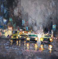 Город. Ночной блюз авто (N2). Картина Кристины Виверс