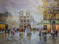 Place Saint Michel Notre Dame (копия картины А.Бланшара от Кристины Виверс)