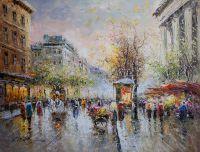 Boulevard des Capucines et Madeleine (копия картины А. Бланшара от Кристины Виверс)