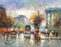 Place de la Madeleine (копия картина А. Бланшара от Кристины Виверс)