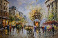 Boulevard des Capucines et Madeleine (копия картины А.Бланшара отКристины Виверс)