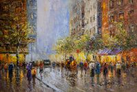 На улицах Парижа (Подражая А.Бланшару) Картина К.Виверс