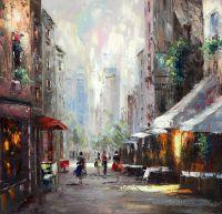 Город. На летних улицах (N2). Картина К.Виверс