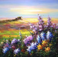 Лаванда цветет. Картина Кристины Виверс