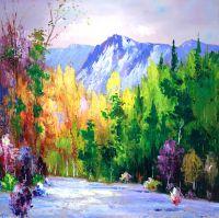 Цветные сны о горах. Картина Кристины Виверс