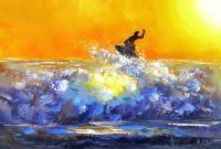 Серфинг. На гребне волны. Картина Хосе Родригеса