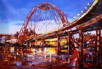 Москва. Живописный мост в Серебряном бору. Картина Хосе Родригеса
