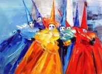 Венеция. Краски карнавала. Картина Хосе Родригеса