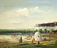 На пляже в Бретани 2. Автор Кристина Виверс
