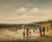 На пляже в Бретани 3. Автор Кристина Виверс