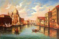 Гранд-канал. Вид на собор Санта-Мария делла Салюте. Худ. А.Ромм