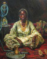 Негритянка (копия картины И.Репина)