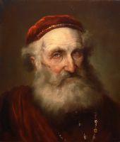 Старик в красном