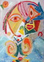Внутренний портрет испанской женщины