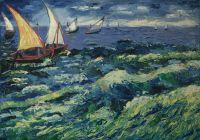 Копия Ван Гог Лодки в Сант-Мари