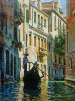 По каналам Венеции.