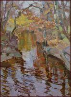 Река Бельбек  в ноябре