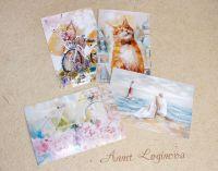 Апрель - набор открыток