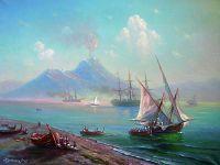 Неаполитанский залив. Вид на Везувий.
