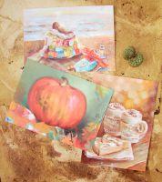 Набор открыток: Осень